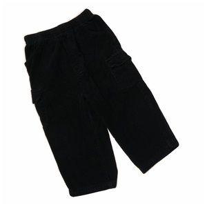 Nursery Rhyme Velvet Black Pants for Boy 18mo